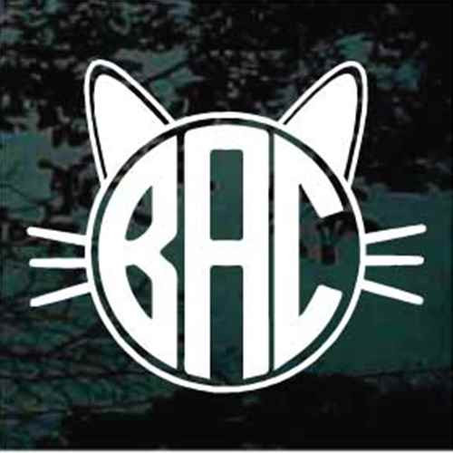 Cat Monogram Window Decals