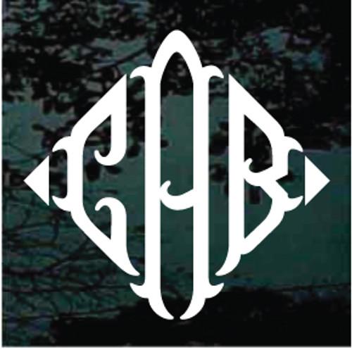 Triangle Fish 3 Letter Monogram