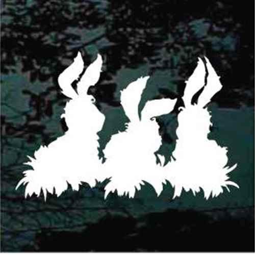 Fuzzy Rabbit Trio Decals