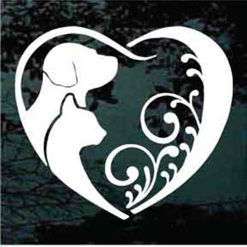 Decorative Cat Dog Heart