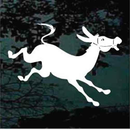Mule Jumping Cartoon Window Decals