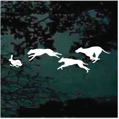Dogs Chasing Rabbit Decals