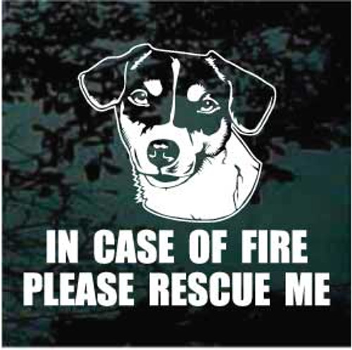 Jack Russell Terrier Fire Rescue Window Decal
