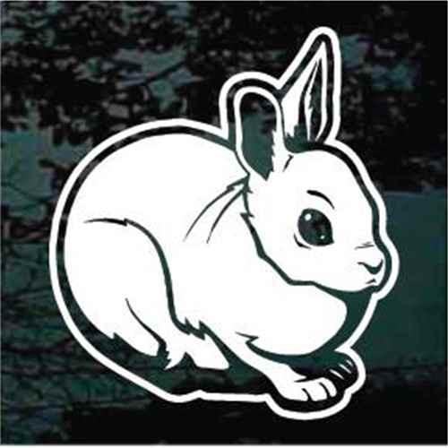 Cute Bunny Rabbit Window Decals