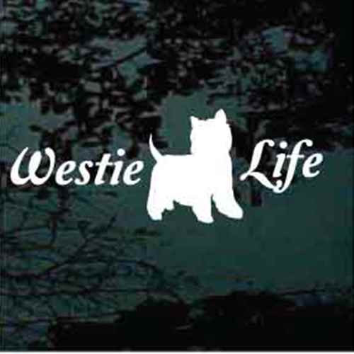 Script Westie Life Window Decals