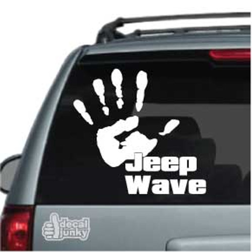 Jeep Wave Car Decal