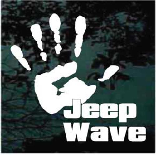 Jeep Wave Window Decal