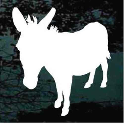Solid Donkey Standing Window Decals
