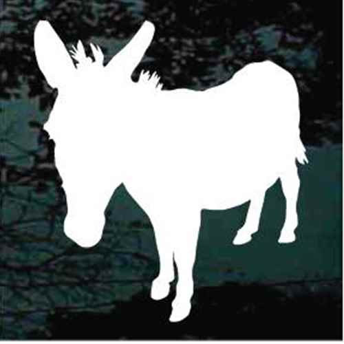 Solid Donkey Standing Window Decals