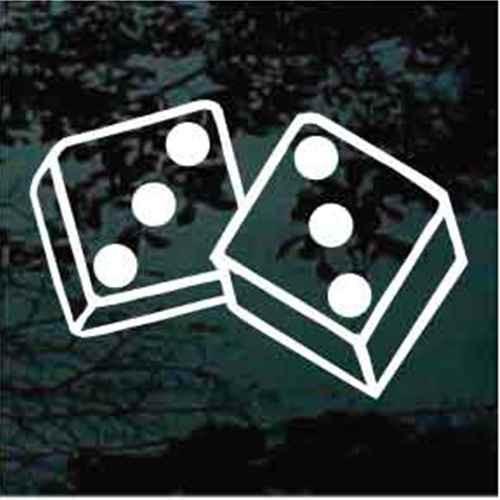 Hard Six Double Three Dice Decals
