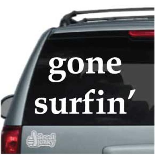Gone Surfin Car Decal