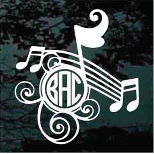 Music Notes Monogram
