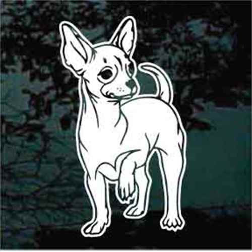 Chihuahua Front Foot Up Window Decal