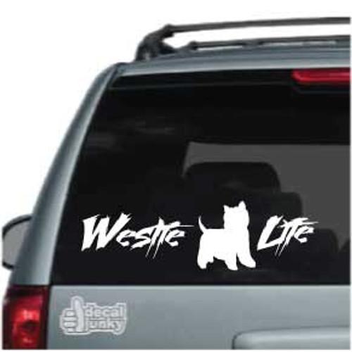 Westie Life Car Decals
