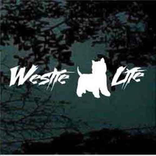 Westie Life Window Decals