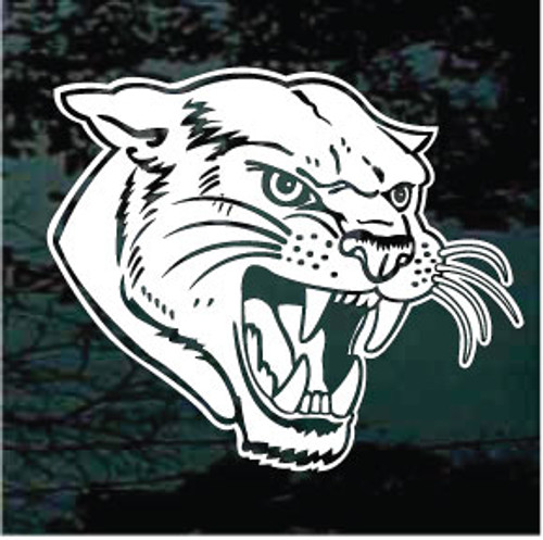 Ferocious Panthers Mascot Window Decals