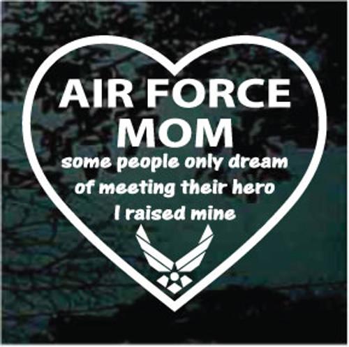 Air Force Mom Heart Window Decal