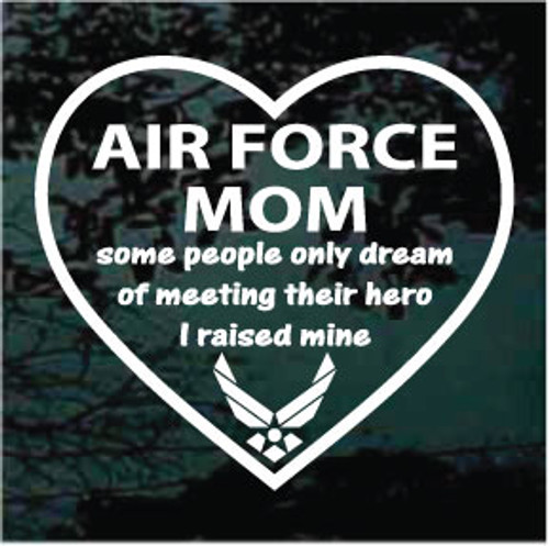 Air Force Mom Heart Window Decals