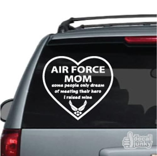 Air Force Mom Heart Car Decal