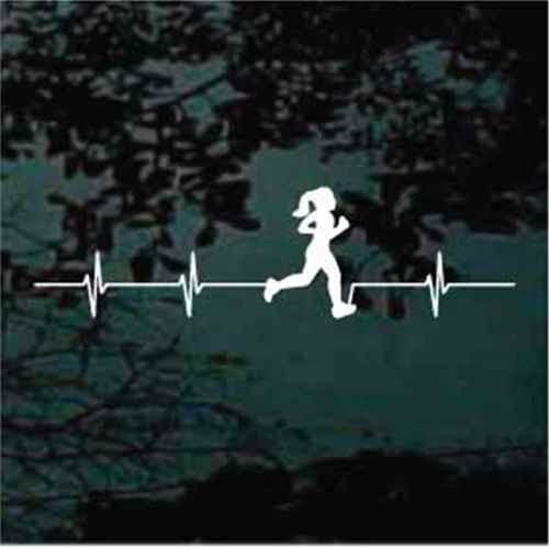 Girl Runner Heartbeat