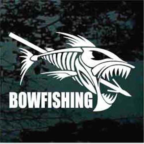 Speared Fish Bowfishing Decals Window Stickers