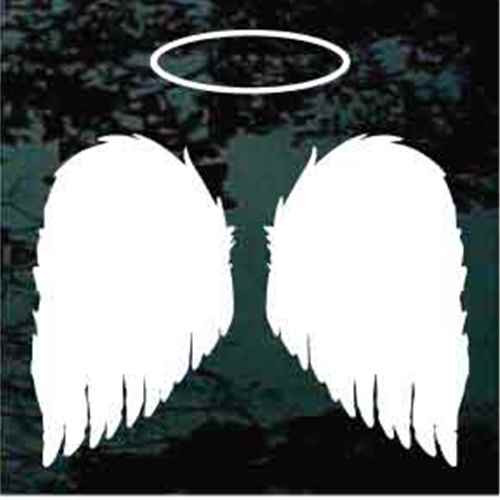 Angel Wings With Halo Window Decals