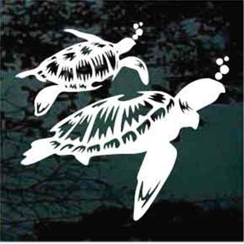Beautiful Sea Turtles Window Decals