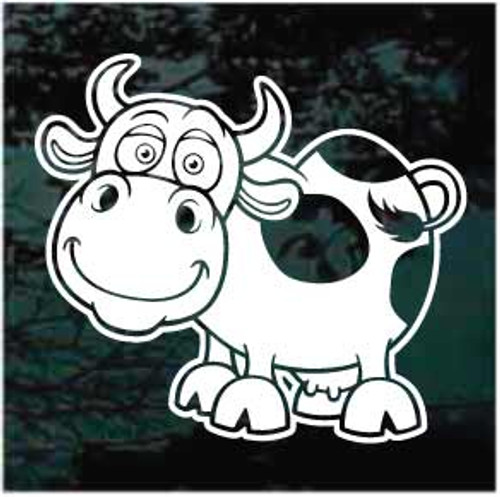 Funny Cartoon Cow Decals