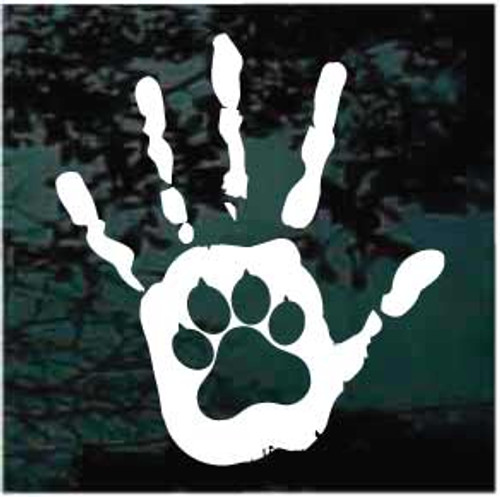 Hand Print Dog Paw Window Decals