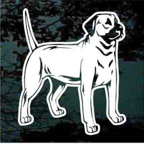 Black Mouth Cur Standing Window Decal