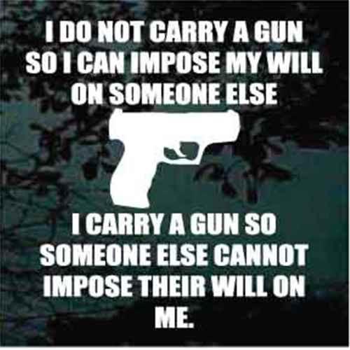 I Do Not Carry A Gun