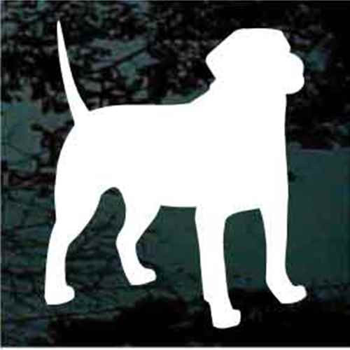 Black Mouth Cur Silhouette Window Decal