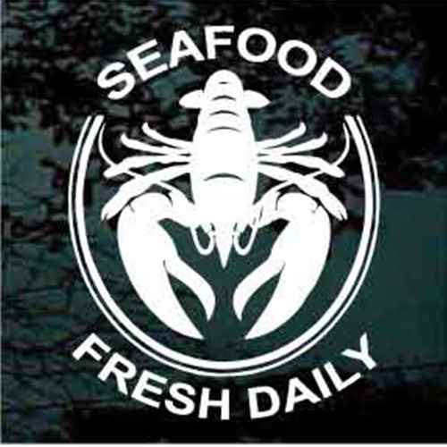Seafood Fresh Daily Lobster Decals