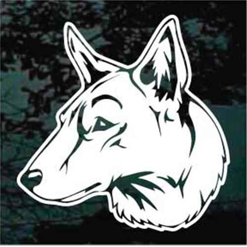 Saarloos Wolfdog Head Window Decal