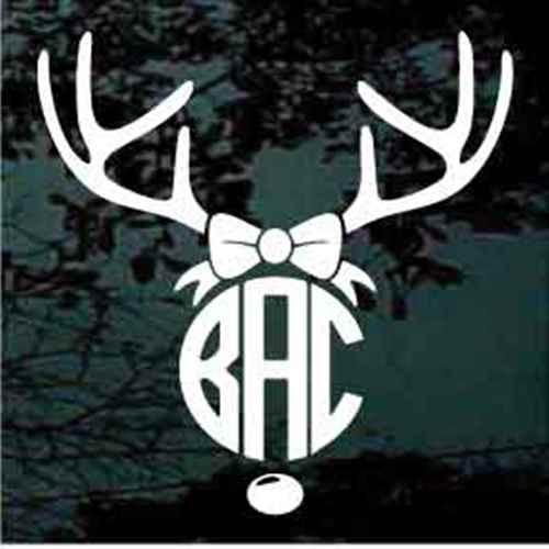 Deer Antlers Bow Monogram
