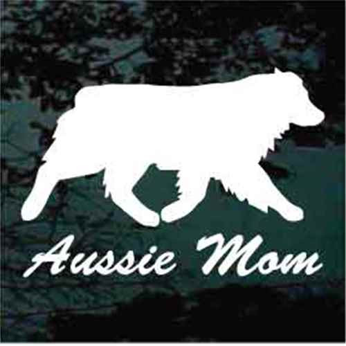 Aussie Mom Window Decal