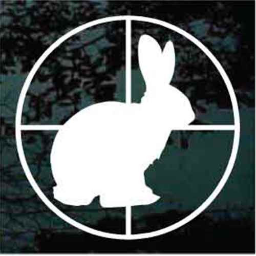 Sitting Rabbit in Crosshair