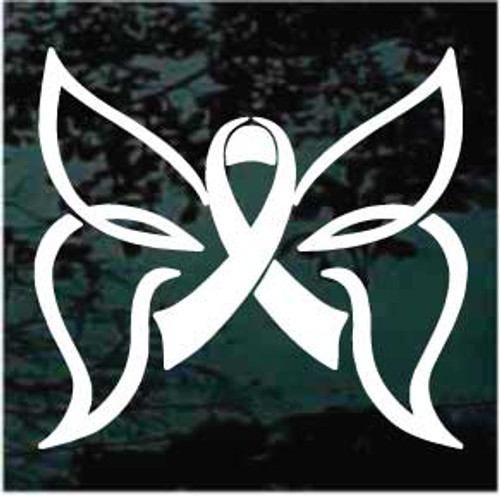 Butterfly Ribbon Window Decals