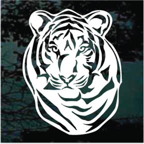 Tiger Head Window Decals