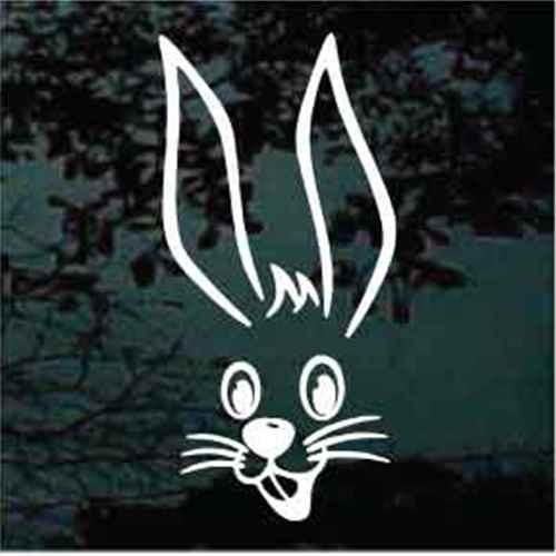 Bunny Rabbit Face Window Decals