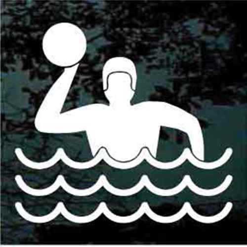 Water Polo Player Icon Decals