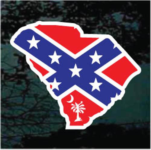 South Carolina State Confederate Flag Palmetto Tree