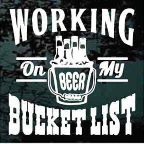 Working On My Bucket List