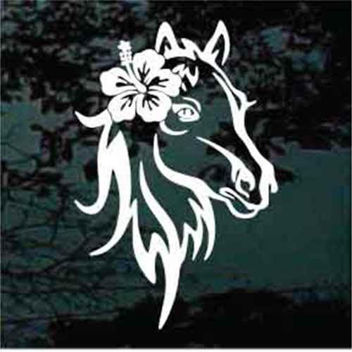 Hibiscus Flower Horse Head