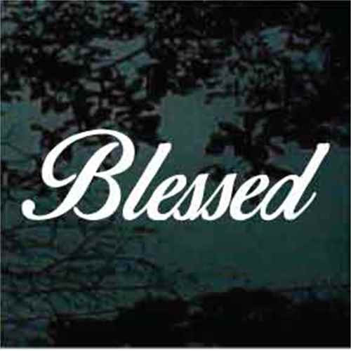 Blessed Christian Quote Decals