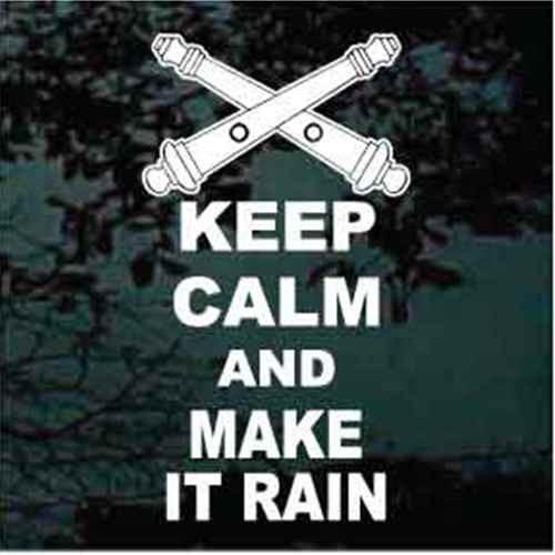 Crossed Cannons Keep Calm & Make It Rain
