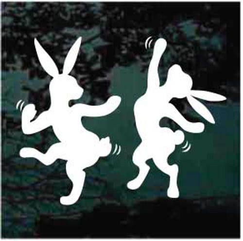 Dancing Rabbits Window Decals