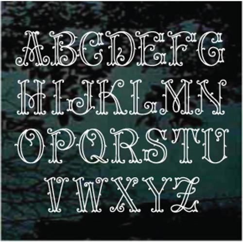 Detailed Arabesque Monogram Letter