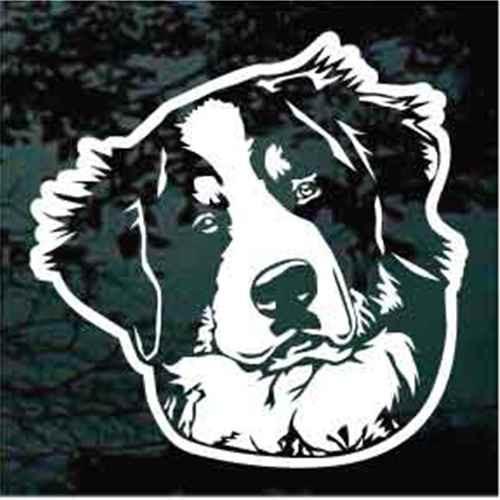 Bernese Mountain Dog Head Window Decal