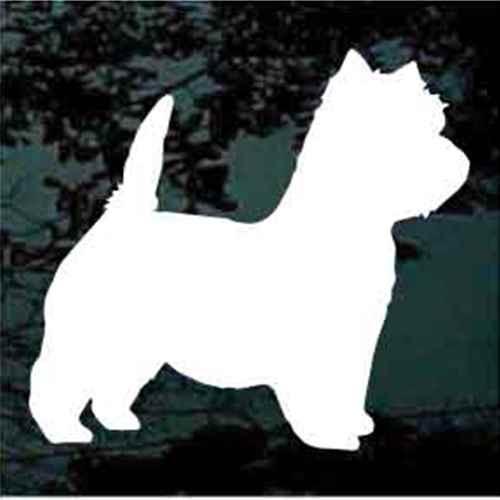 West Highland Terrier Silhouette Window Decals